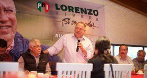 Bases del PRI darán victoria en gubernatura, afirma Lorenzo Rivera
