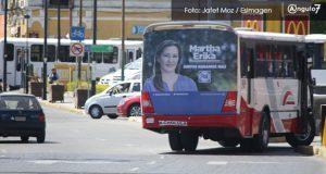 Congreso local buscará prohibir propaganda electoral en transporte público