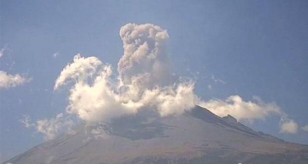 Ante fumarolas del Popocatépetl, gobierno estatal pide precaución