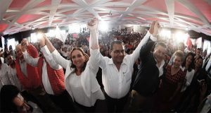 Acompañado de Marín, Jiménez pide piso parejo en elección por gubernatura