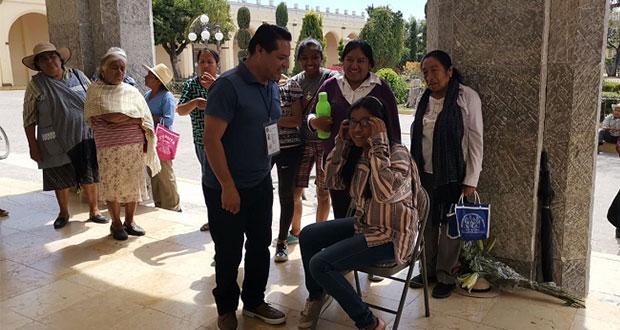 Ayuntamiento de Ahuatempan realiza segunda campaña de salud visual