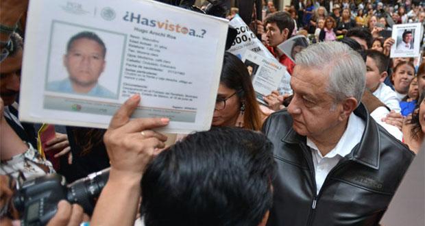 Búsqueda de desparecidos, prioridad sin límite presupuestal: AMLO