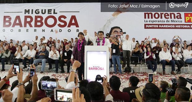 Barbosa arranca campaña: promete paridad en gabinete y Secretaría de Género