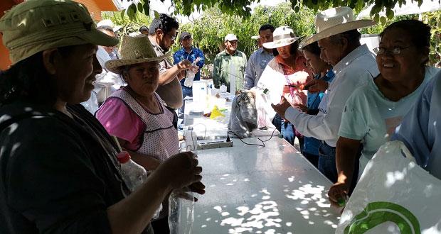 SDR entrega insumos para cultivos de cítricos en Acateno