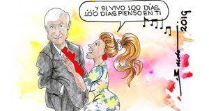 Caricatura: Acción poética de AMLO