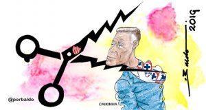 Caricatura: ¡Aguas con los rayos, Caixinha!