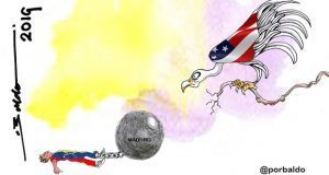 Caricatura: EU, a la espera en Venezuela