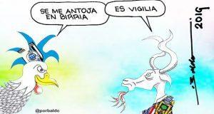 Caricatura: Gallos quieren birria de Chivas