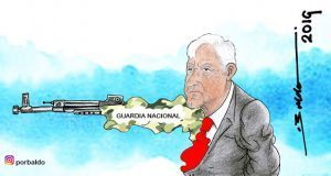 Caricatura: La cuestionada Guardia Nacional de AMLO