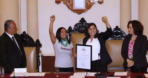 Claudia Rivera se pronuncia por la no criminalización del aborto en Puebla