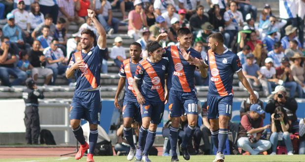 Club Puebla golea a Lobos y se lleva el derbi