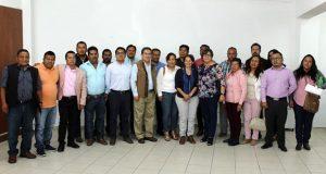 Comuna poblana presenta plan de trabajo a presidentes auxiliares