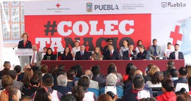 DIF estatal y Cruz Roja en Puebla inician colecta nacional 2019