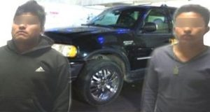 Detienen a tres sujetos por robo de autopartes en San Aparicio