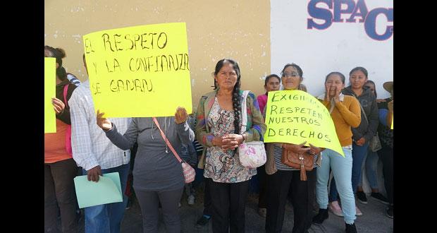 En Atlixco, vecinos exigen a municipio respetar elección de inspector