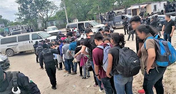 En Tamaulipas, aseguran a 107 migrantes y abaten a presunto pollero