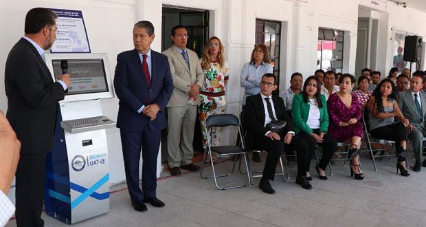 FGE instala módulo de denuncia rápida en Santa Clara Ocoyucan