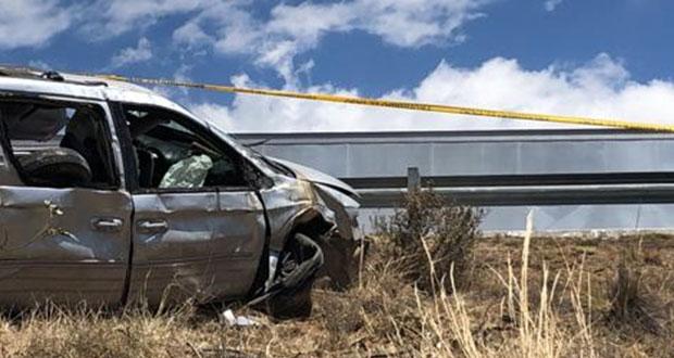 Fallece presidente auxiliar de Zacatán por volcadura de auto en Apizaco