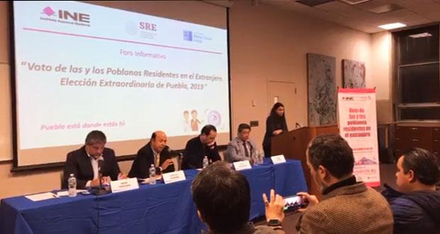 INE promueve voto de poblanos en extranjero; van 1,481 registrados