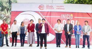 Inician cinco obras en diferentes puntos de San Andrés Cholula