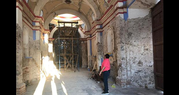 Inician reconstrucción del templo de San Pedro Yeloixtlahuaca