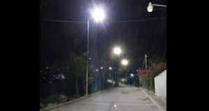 Instalan alumbrado público en comunidad de Huitzilan de Serdán