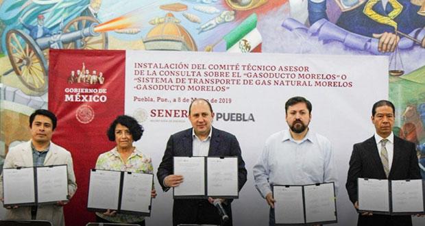 SGG instala comité de consulta a pueblos sobre gasoducto Morelos