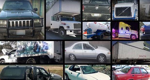 SSP asegura 18 vehículos en 9 municipios y a un presunto ladrón