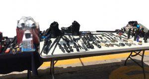SSP asegura equipo táctico y armas en CH y colonia Las Cuartillas