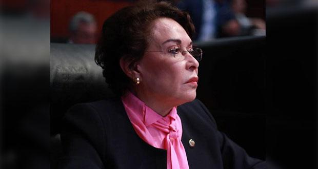 Eva Galaz, senadora de Morena, llama retrasados mentales a reporteros