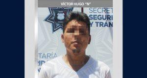 En San Manuel, Ssptm detiene a probable asaltante de estudiantes