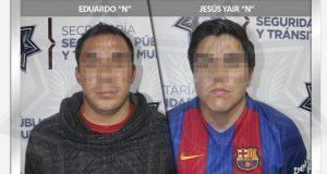 Detienen a dos probables asaltantes de transeúntes en El Carmen