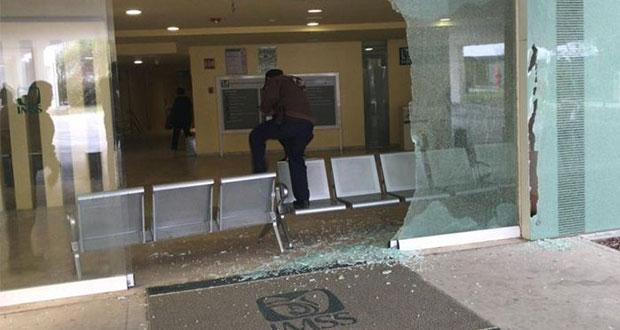 Balacera causa daños y pánico en hospital del IMSS en Reynosa