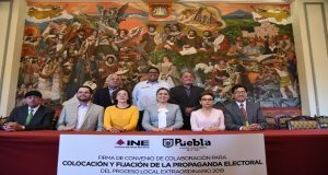 Ayuntamiento e INE firman convenio para colocación de propaganda
