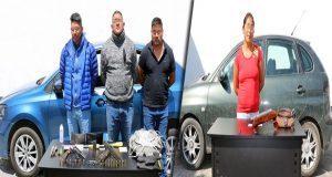 SSP detiene a cuatro por poseer armas de fuego y vehículos robados