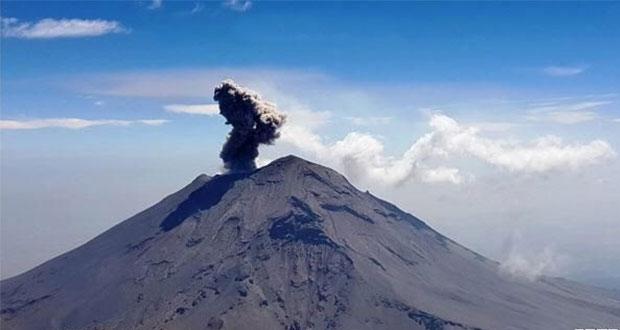 Explosión en Popo, asociada a destrucción del domo 82: PC estatal