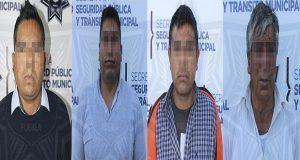 Ssptm detiene a 4 sujetos por robo y posesión de droga por la CAPU