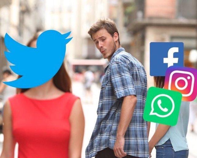 Las reacciones de las fallas en Facebook y Whatsapp