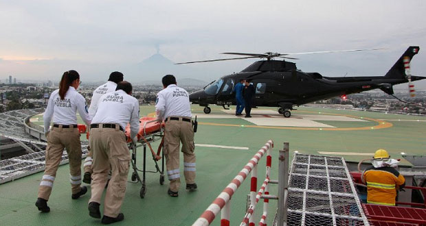 En un mes, helicóptero Agusta realiza 32 traslados de emergencia