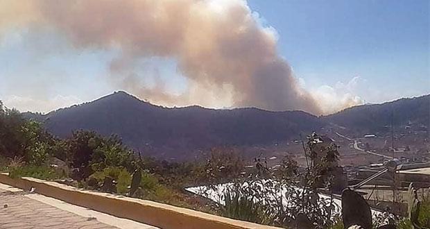 Muere hijo de edil auxiliar en incendio forestal en Zautla