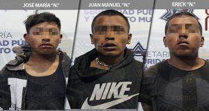 Ssptm detiene a 3 por robo a transporte público y uno por violación