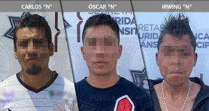 Ssptm detiene a probable ladrón y dos supuestos narcomenudistas