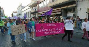 Marcha por el Día Internacional de la Mujer en Puebla