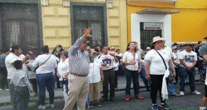 Marchan para exigir destitución de titulares de Segom y Ssptm