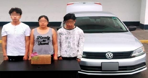 SSP detiene a 3 sujetos en San Aparicio con 4 kilos de droga