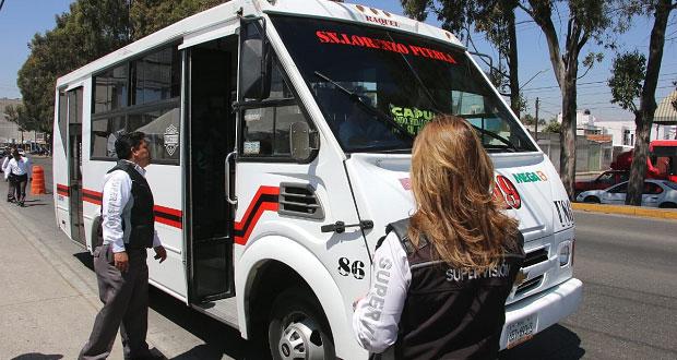 Sancionan a 17 choferes de rutas por consumo de drogas en Puebla