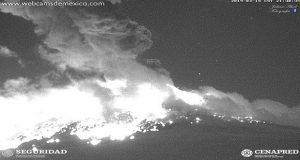 Otra vez, el Popocatépetl registra explosión y genera miedo