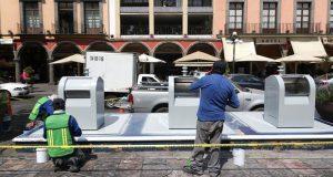 Comuna de Puebla inicia rehabilitación de contenedores de residuos