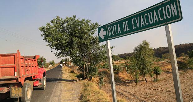 Las 10 rutas de evacuación son transitables: Protección Civil