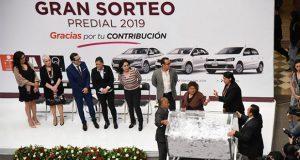 Ayuntamiento sortea 6 automóviles por pago oportuno en predial